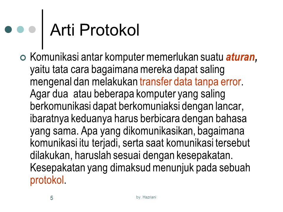 Arti Protokol