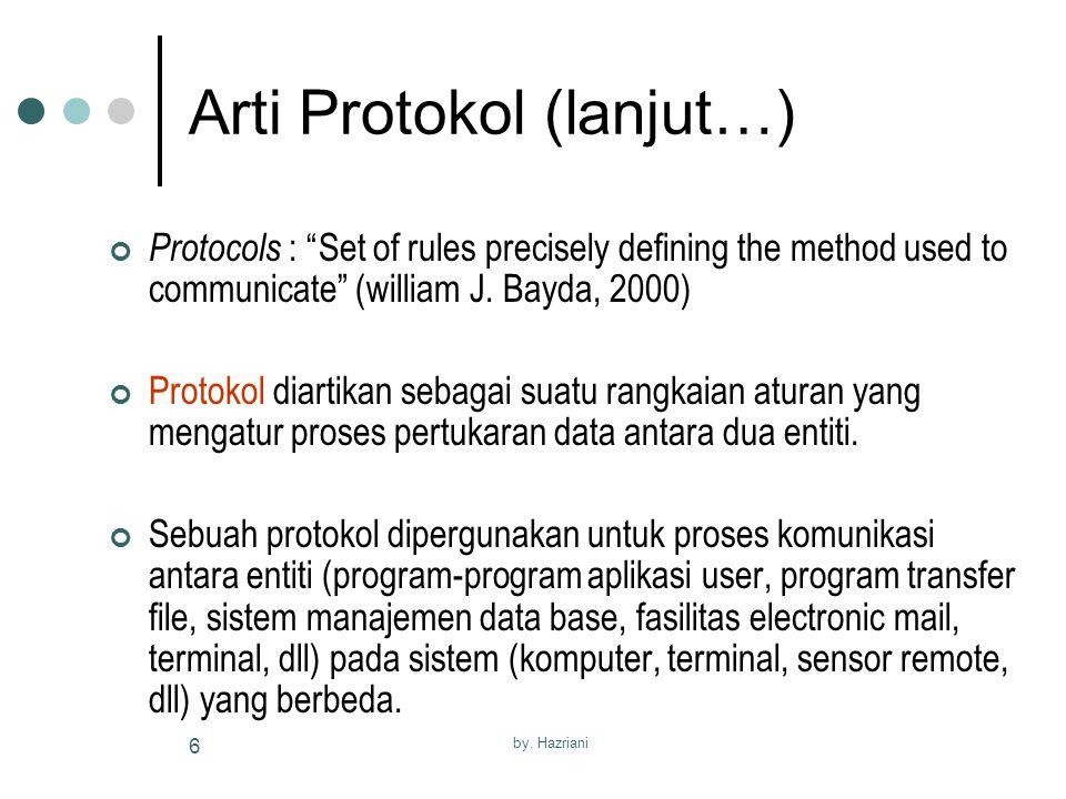 Arti Protokol (lanjut…)
