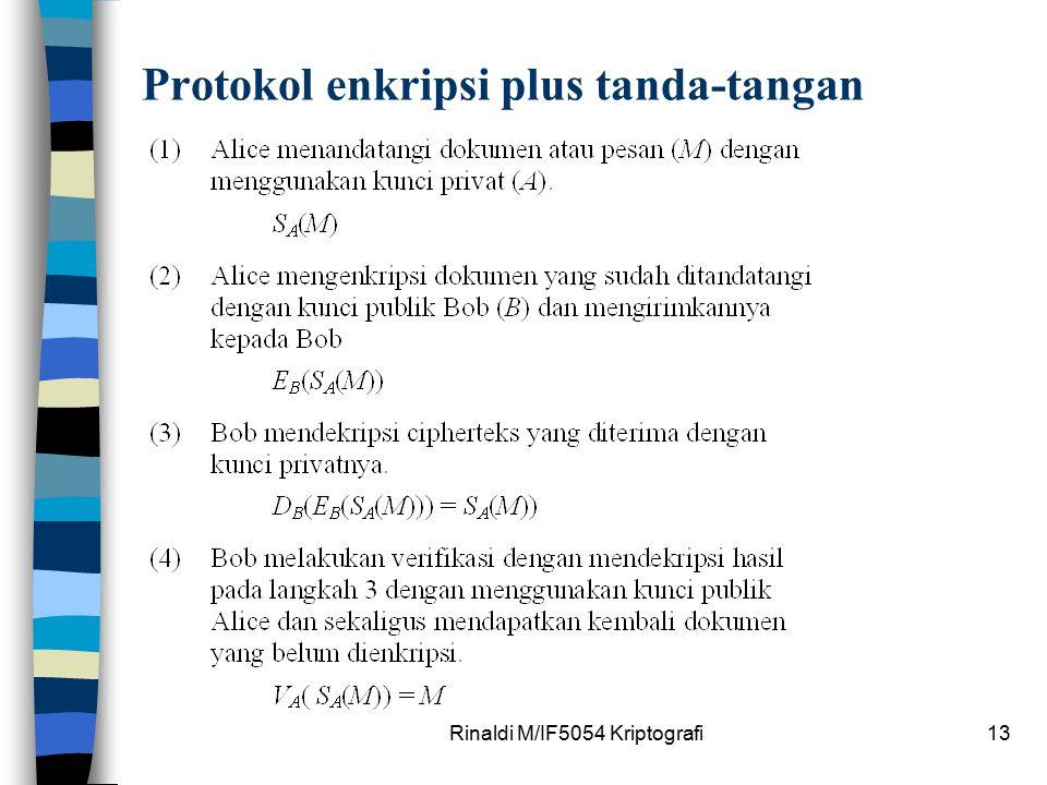 Protokol enkripsi plus tanda-tangan