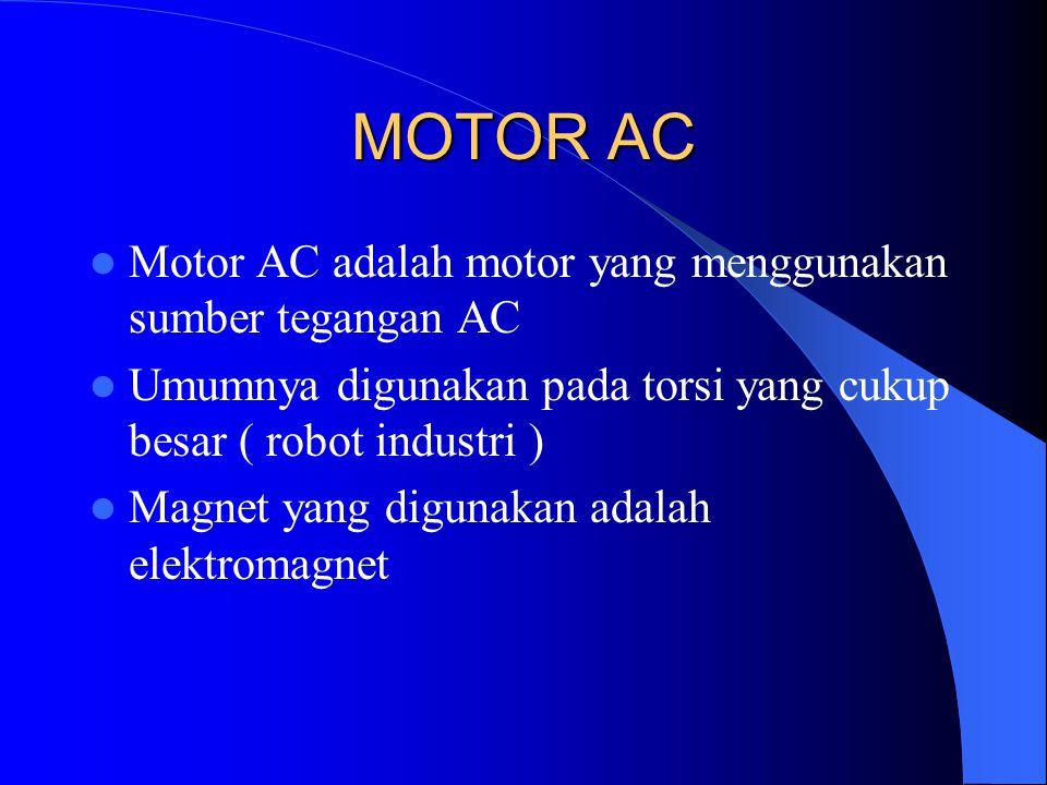 MOTOR AC Motor AC adalah motor yang menggunakan sumber tegangan AC