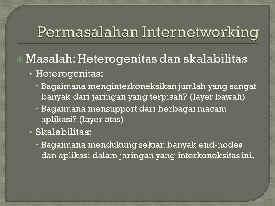 Permasalahan Internetworking