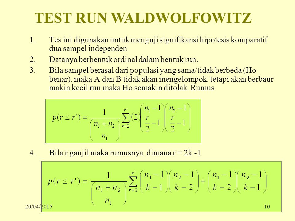TEST RUN WALDWOLFOWITZ