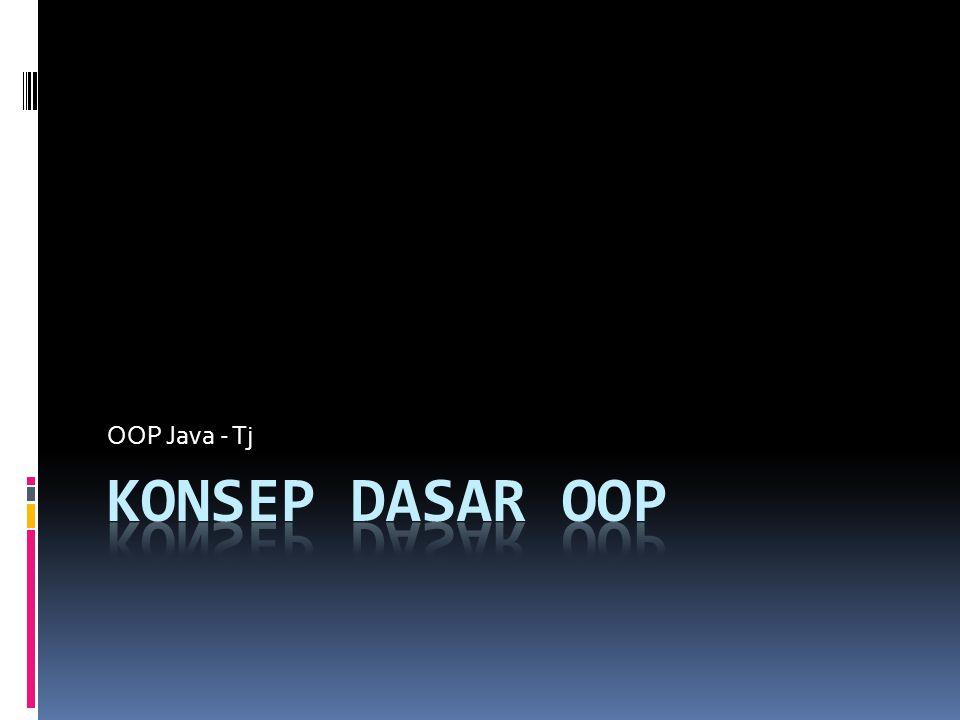 OOP Java - Tj Konsep Dasar OOP