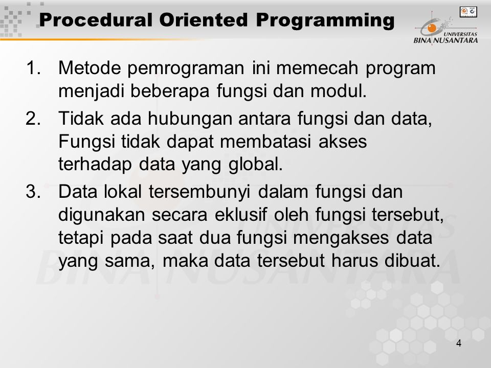 Procedural Oriented Programming