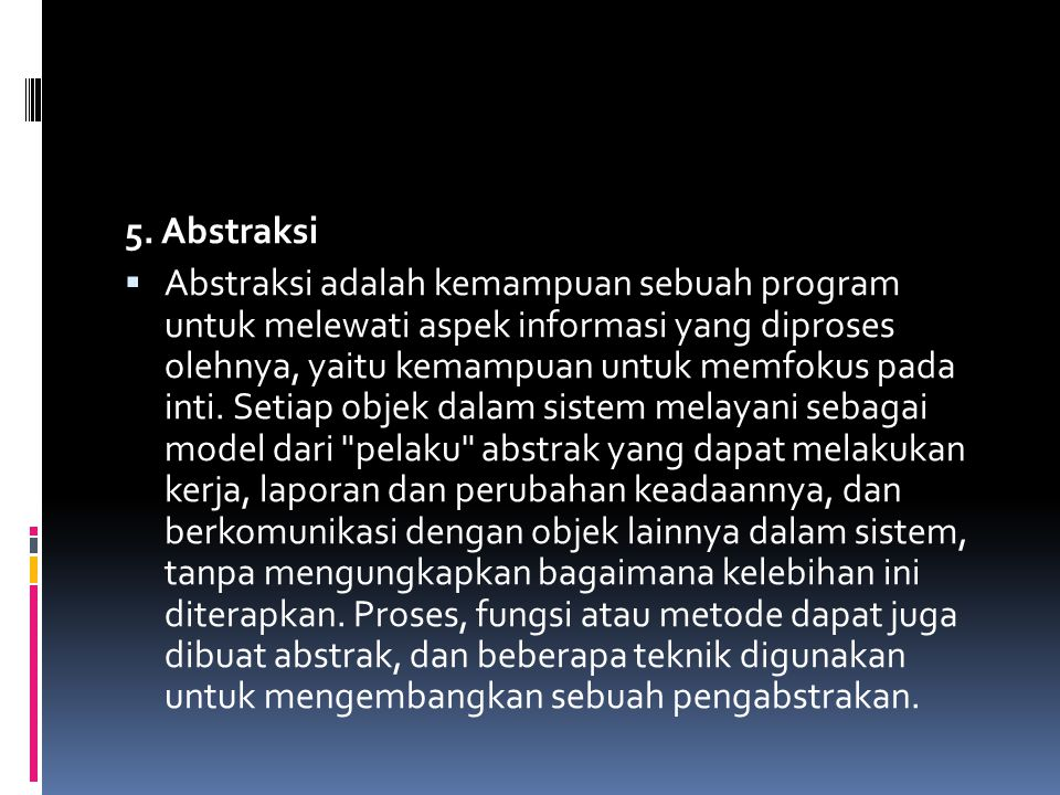 5. Abstraksi