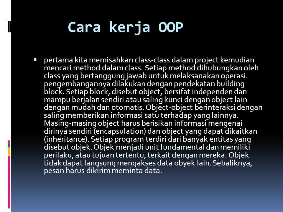 Cara kerja OOP