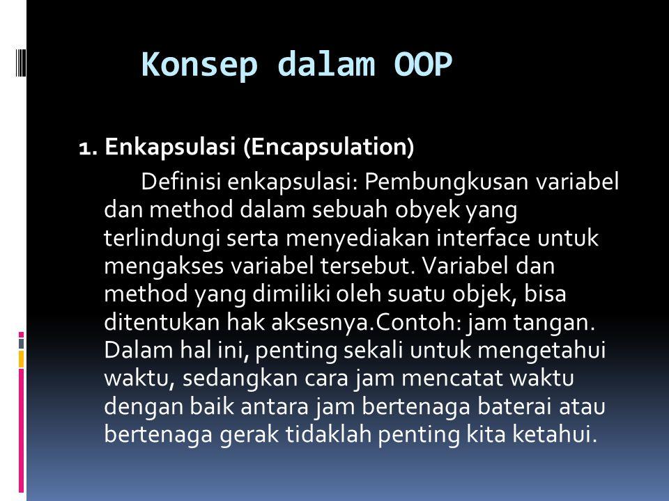 Konsep dalam OOP