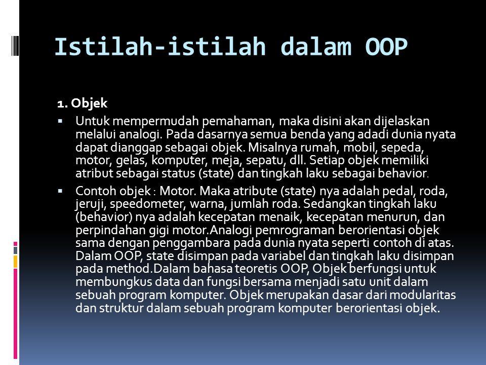 Istilah-istilah dalam OOP
