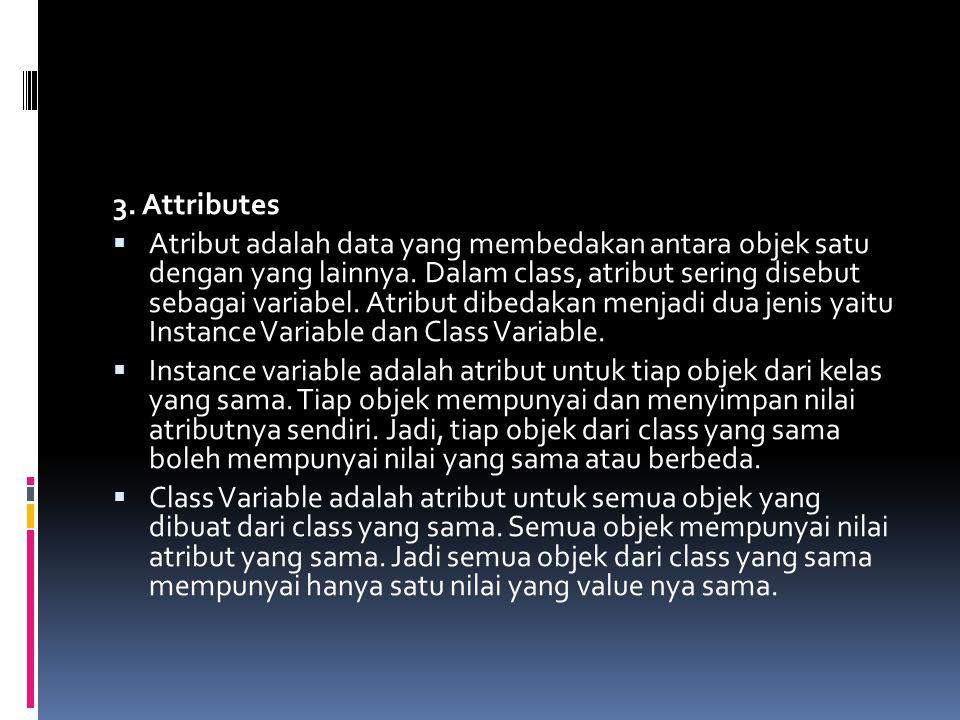 3. Attributes