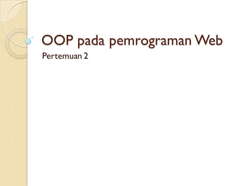 OOP pada pemrograman Web