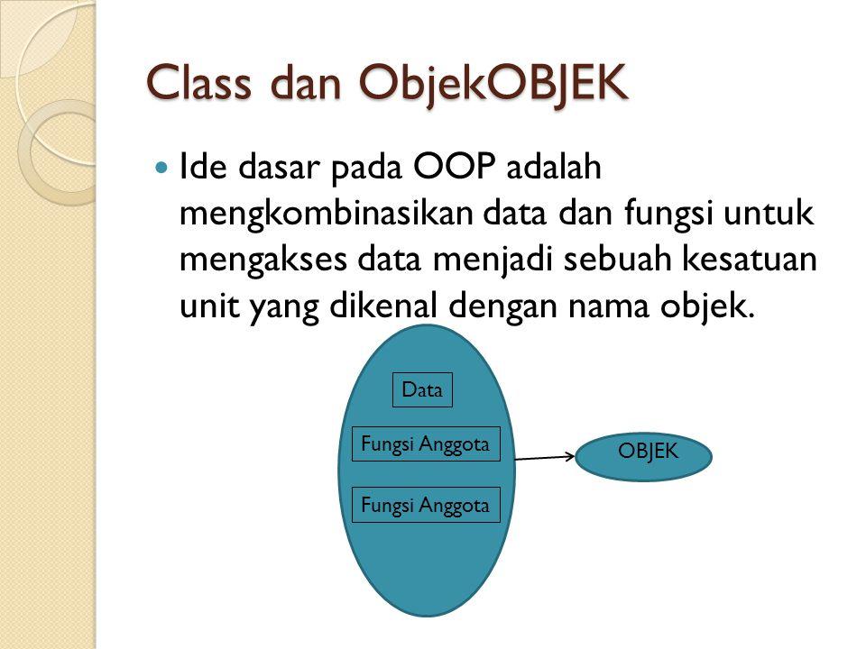 Class dan ObjekOBJEK