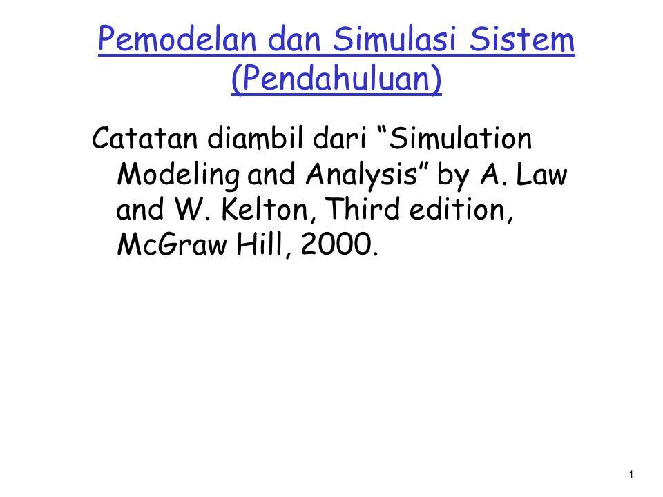 Pemodelan dan Simulasi Sistem (Pendahuluan)