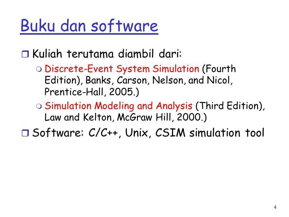Buku dan software Kuliah terutama diambil dari: