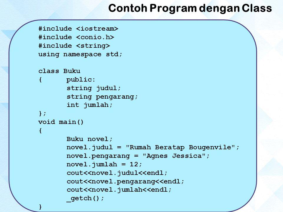 Contoh Program dengan Class