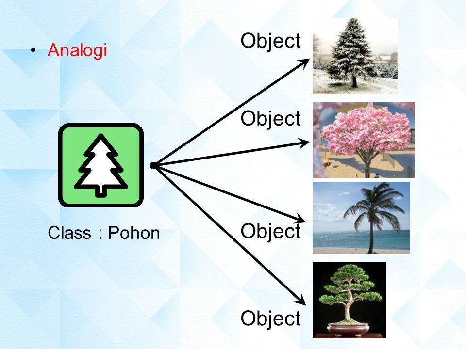 Object Analogi Class : Pohon Object Object Object