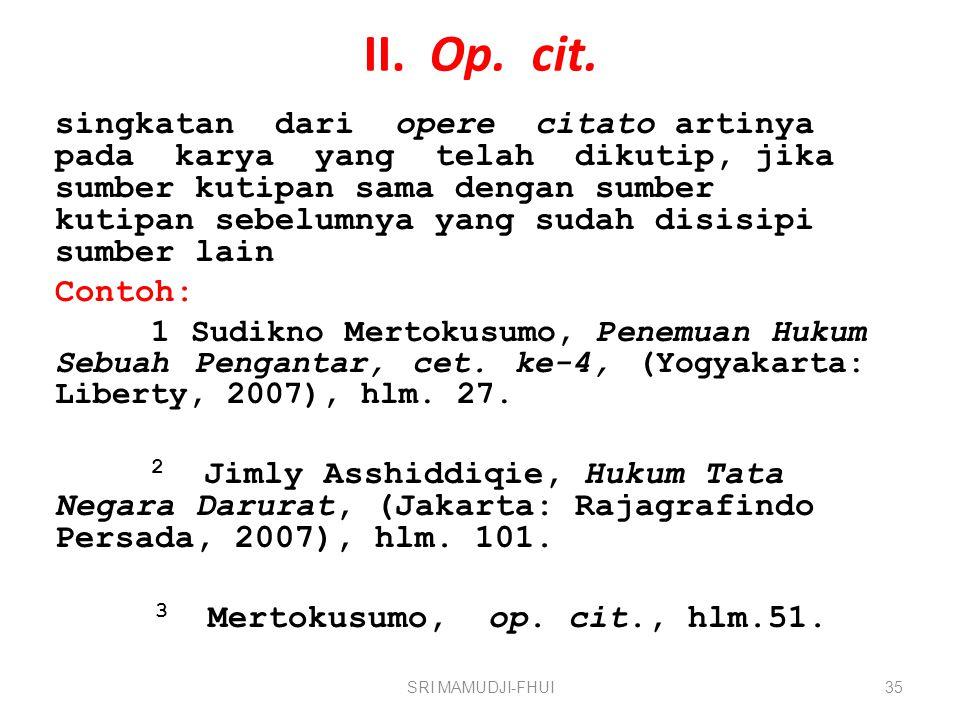 II. Op. cit.