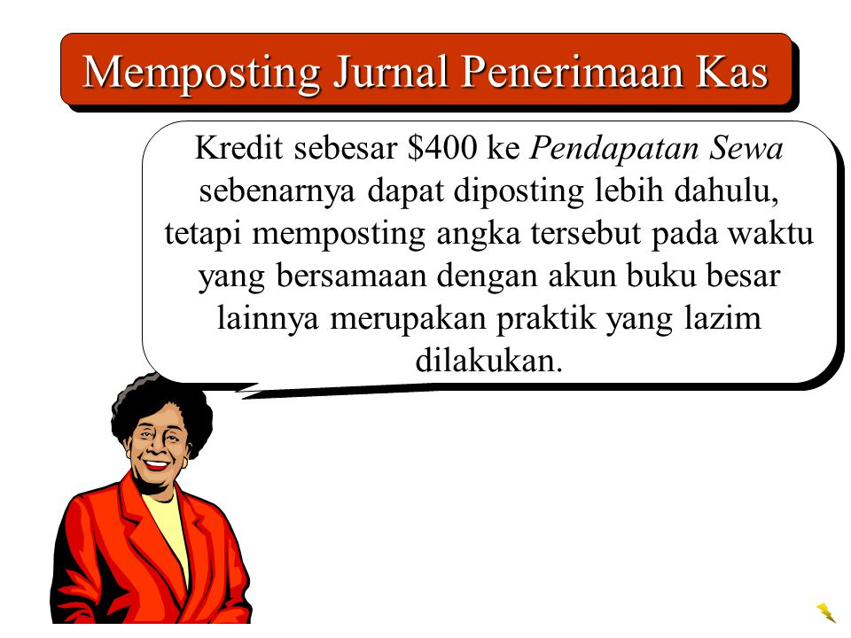 Memposting Jurnal Penerimaan Kas