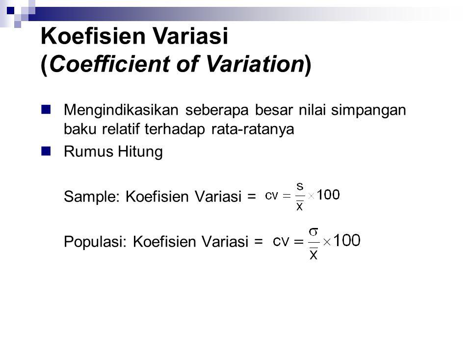 Koefisien Variasi (Coefficient of Variation)