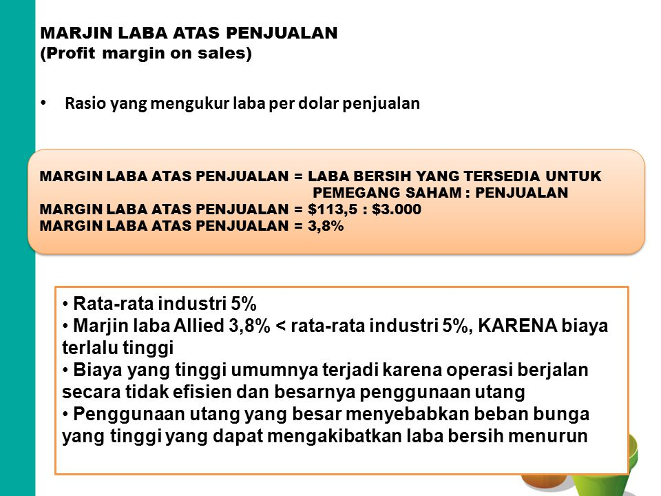 MARJIN LABA ATAS PENJUALAN (Profit margin on sales)