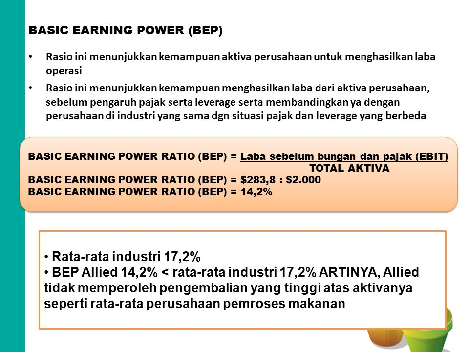 BASIC EARNING POWER (BEP)