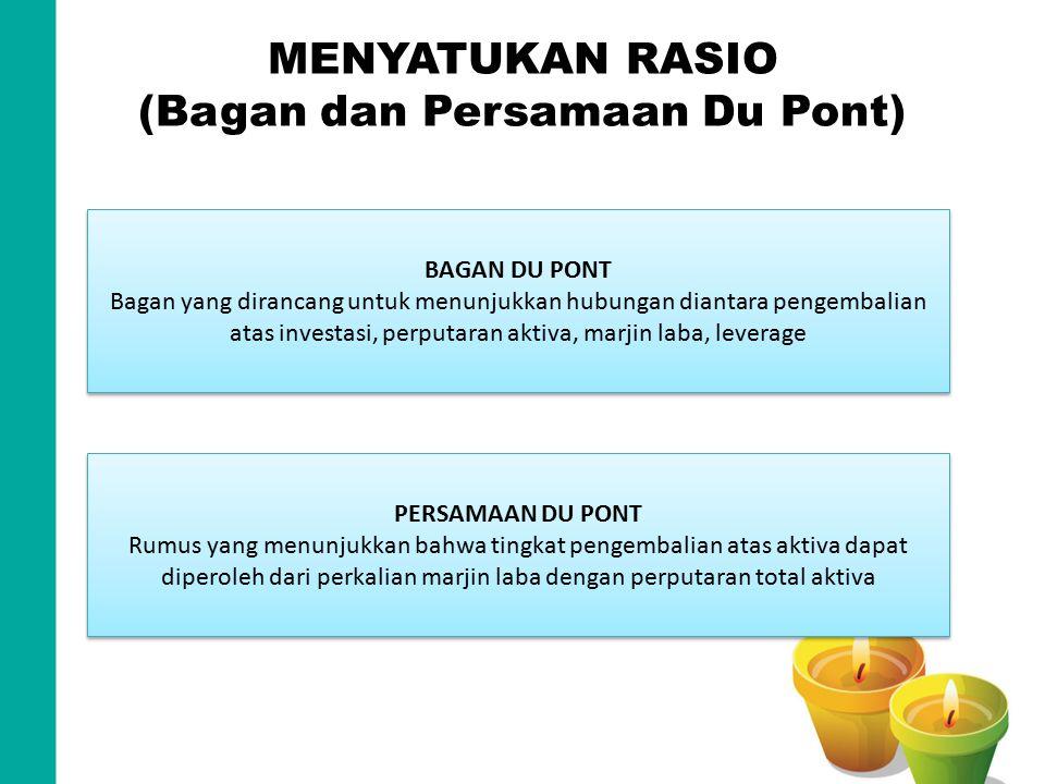 MENYATUKAN RASIO (Bagan dan Persamaan Du Pont)