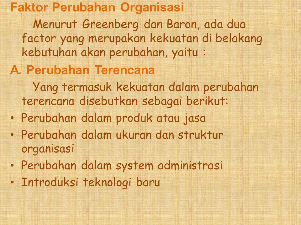 Faktor Perubahan Organisasi