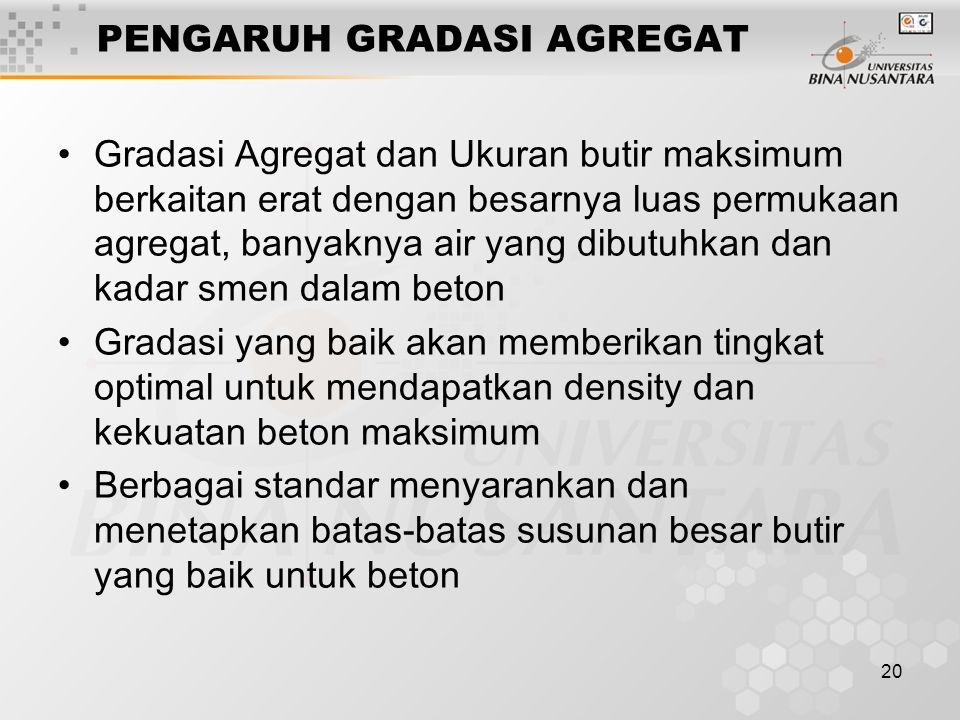 PENGARUH GRADASI AGREGAT