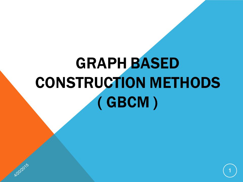 Graph Based Construction Methods ( GBCM )