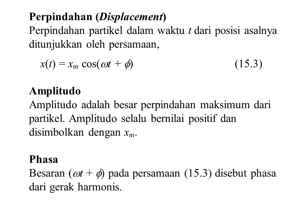 Perpindahan (Displacement)