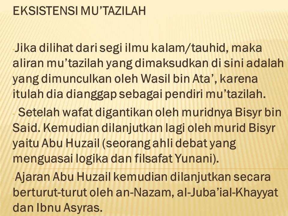 EKSISTENSI MU'TAZILAH