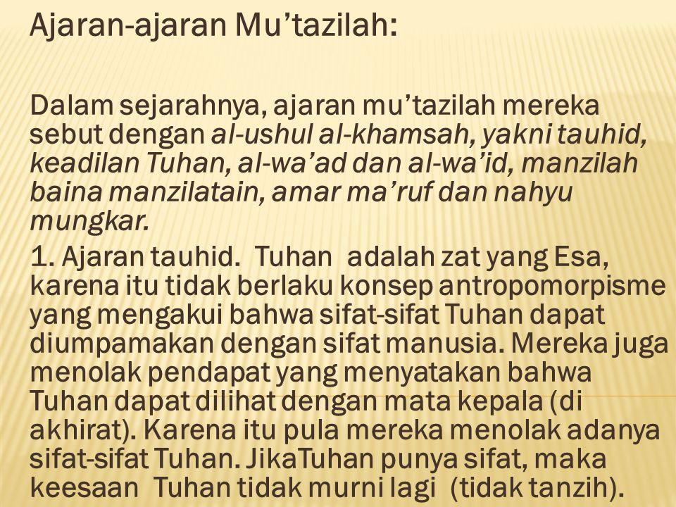 Ajaran-ajaran Mu'tazilah: