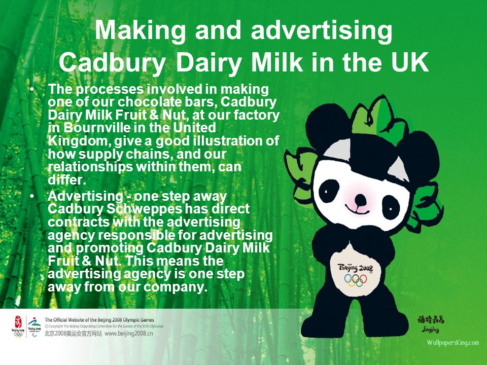 Making and advertising Cadbury Dairy Milk in the UK