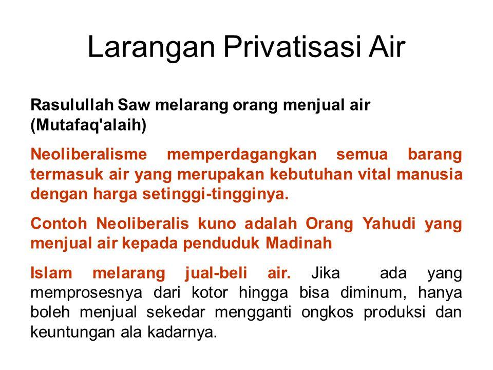 Larangan Privatisasi Air