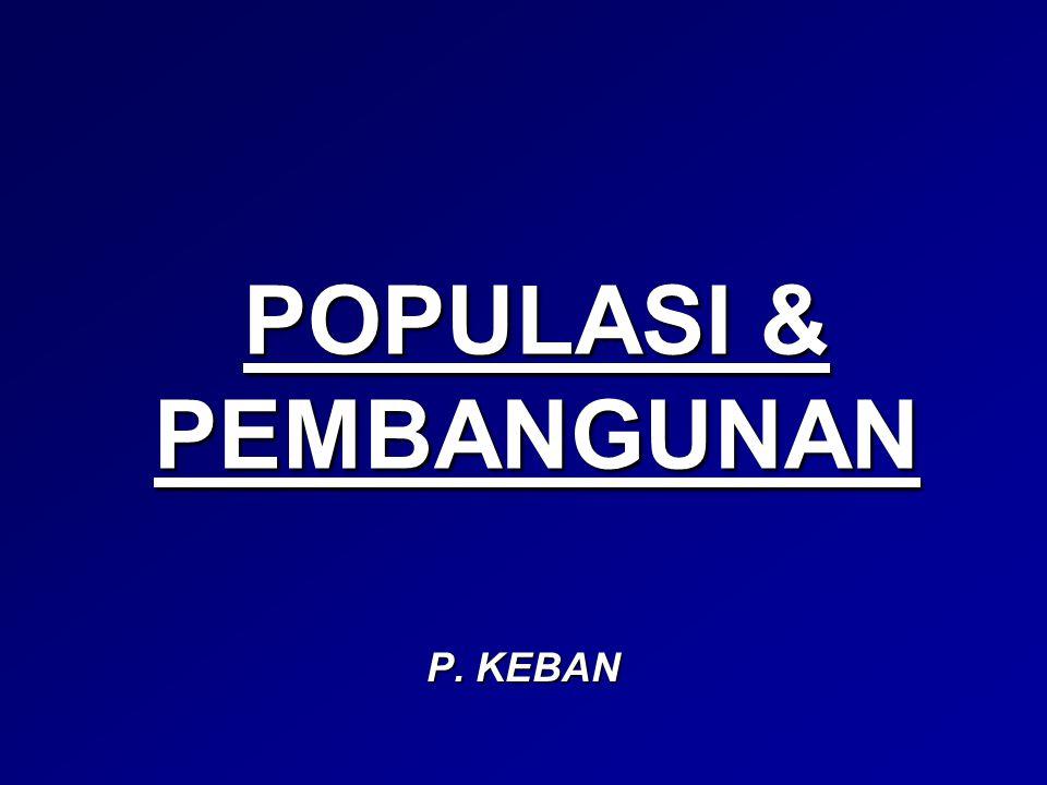 POPULASI & PEMBANGUNAN
