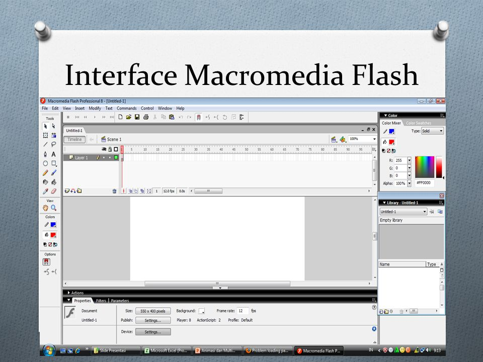 Interface Macromedia Flash