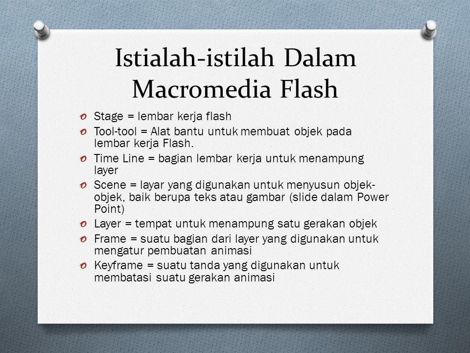 Istialah-istilah Dalam Macromedia Flash