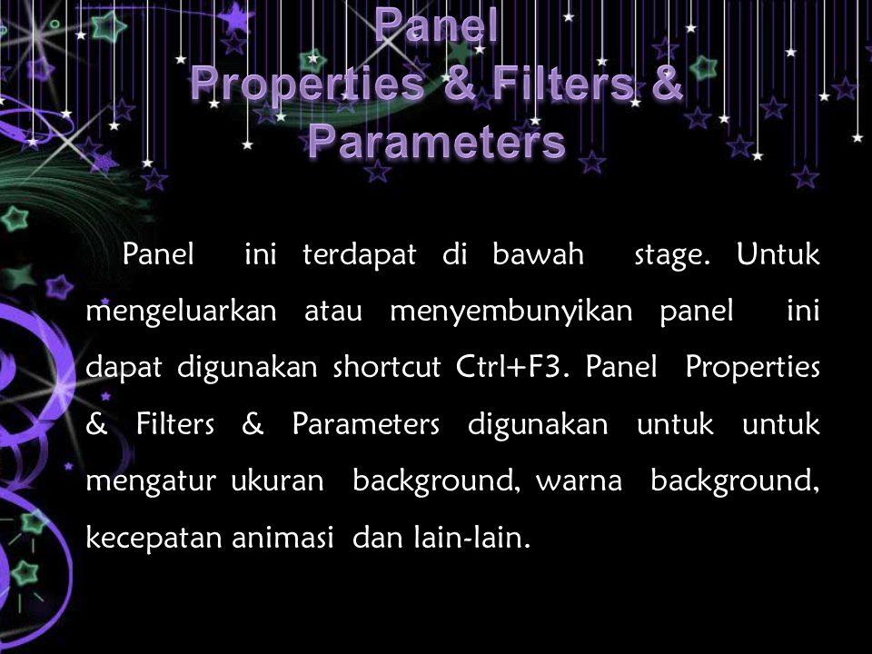 Panel Properties & Filters & Parameters
