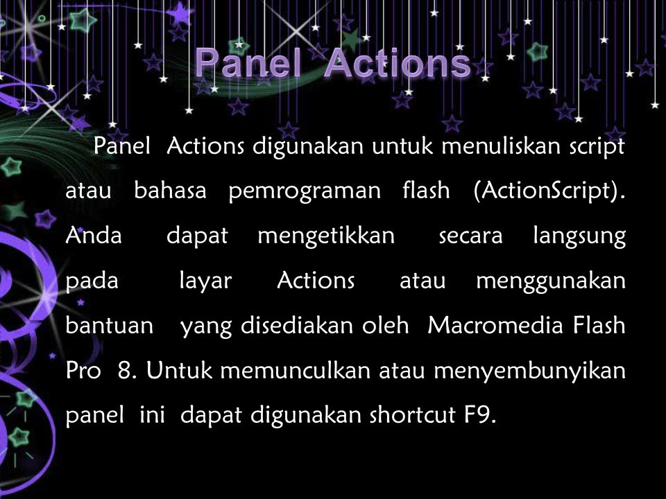 Panel Actions