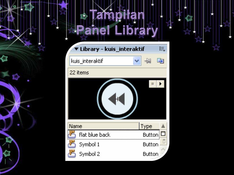 Tampilan Panel Library