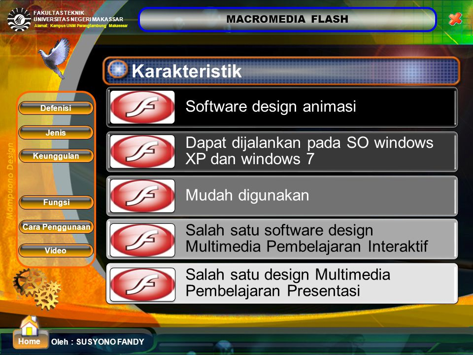 Karakteristik Software design animasi
