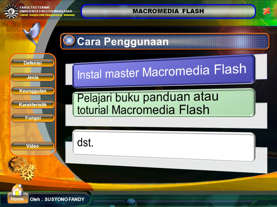 Instal master Macromedia Flash