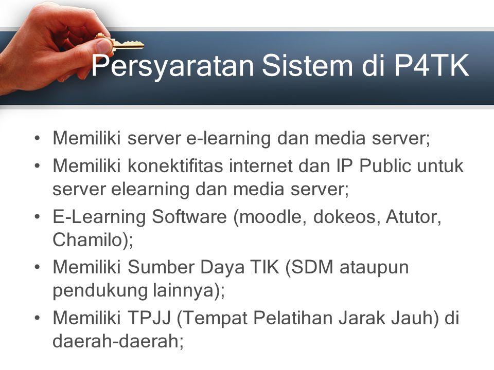 Persyaratan Sistem di P4TK