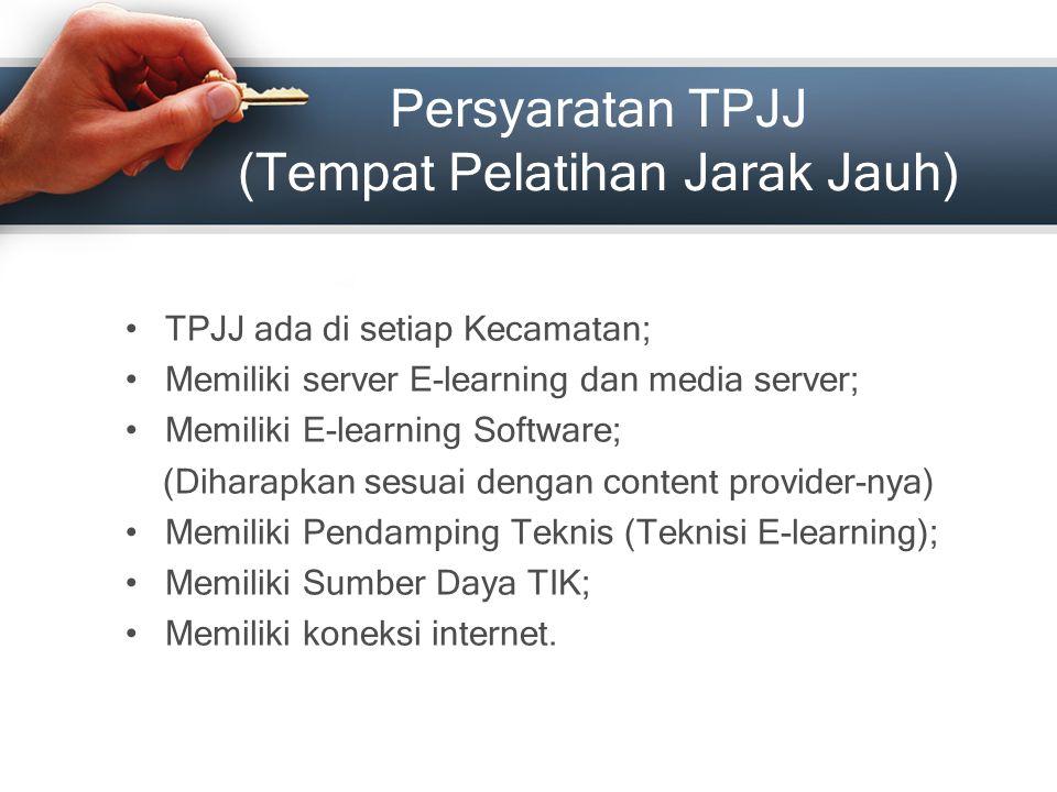 Persyaratan TPJJ (Tempat Pelatihan Jarak Jauh)