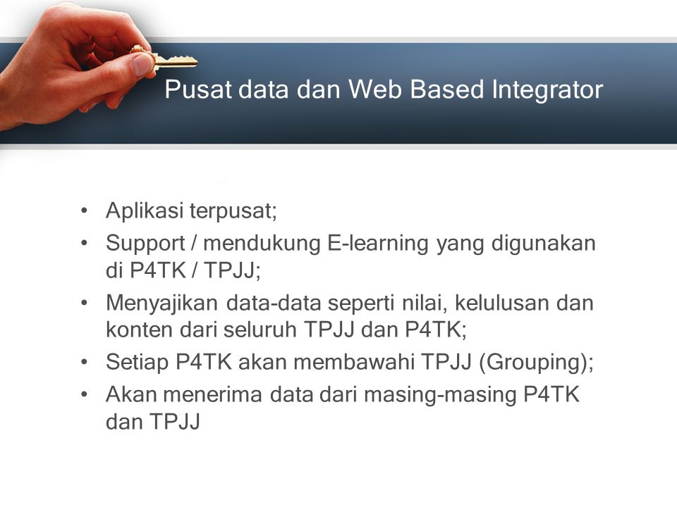 Pusat data dan Web Based Integrator