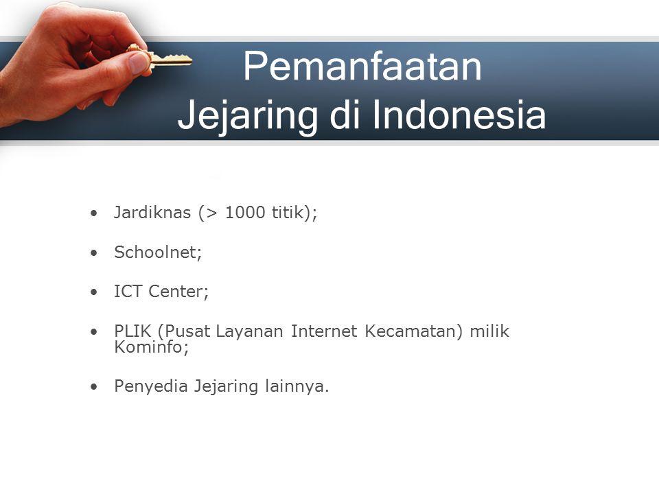Pemanfaatan Jejaring di Indonesia