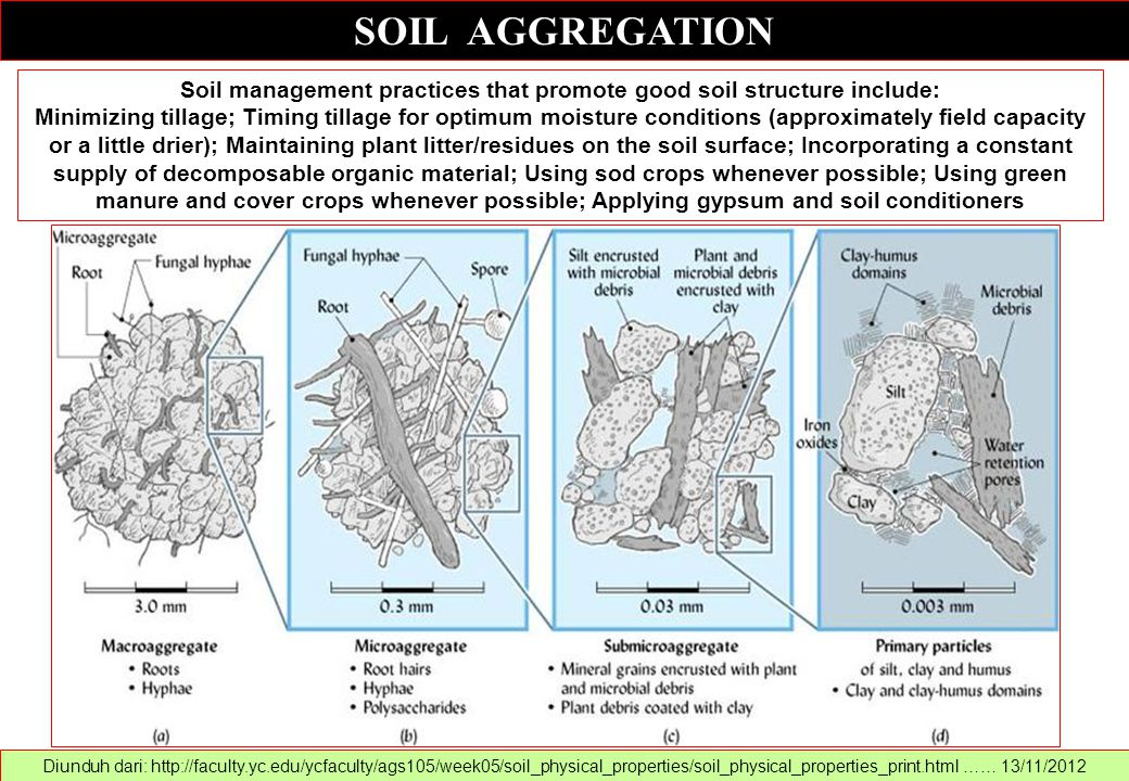 Soil management practices that promote good soil structure include: