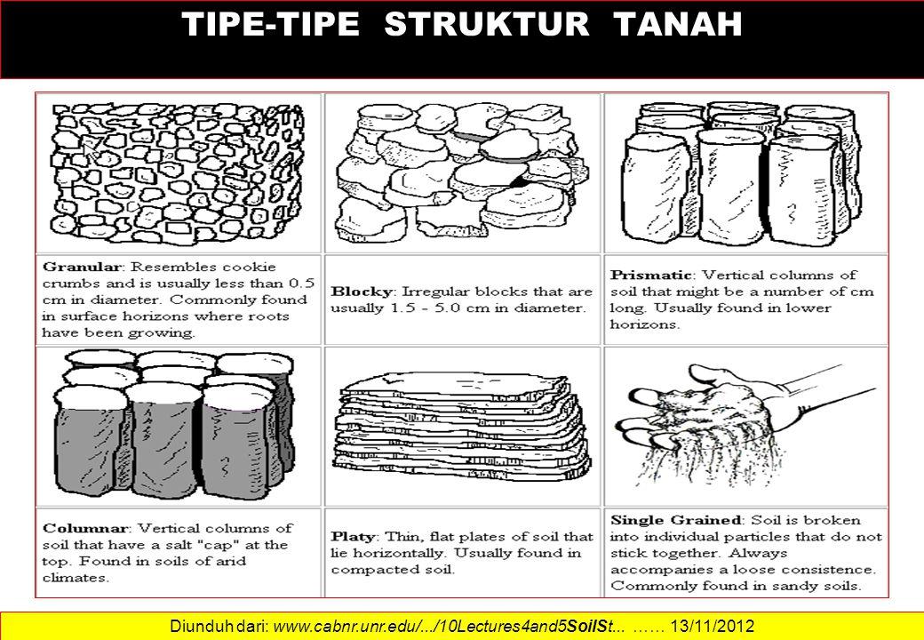 TIPE-TIPE STRUKTUR TANAH