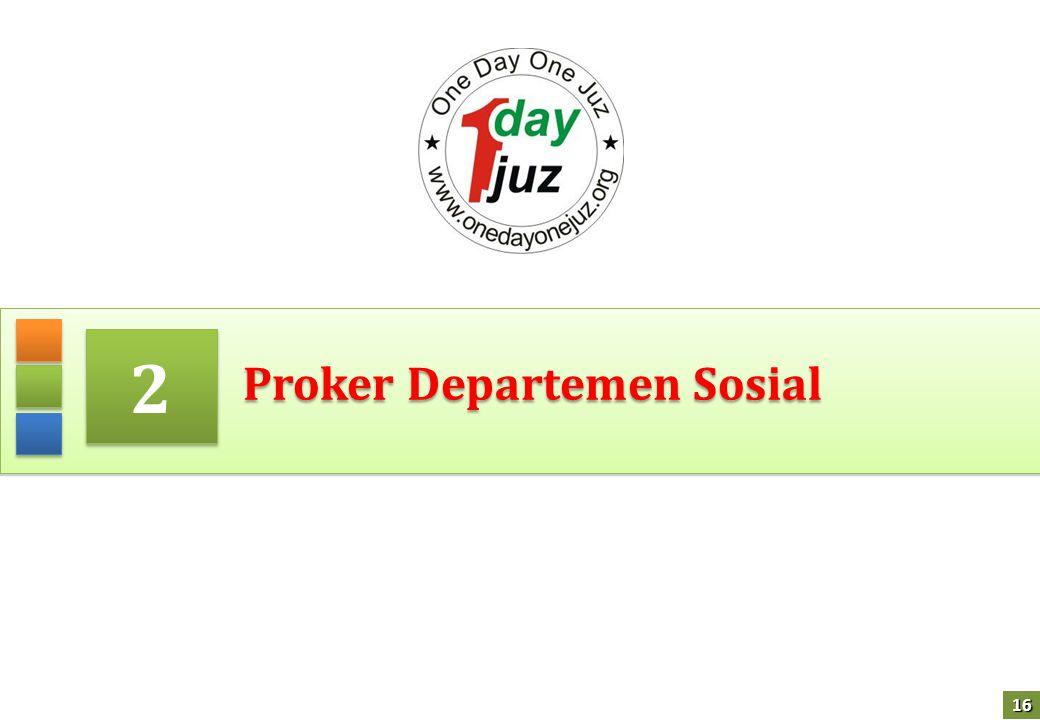 Proker Departemen Sosial