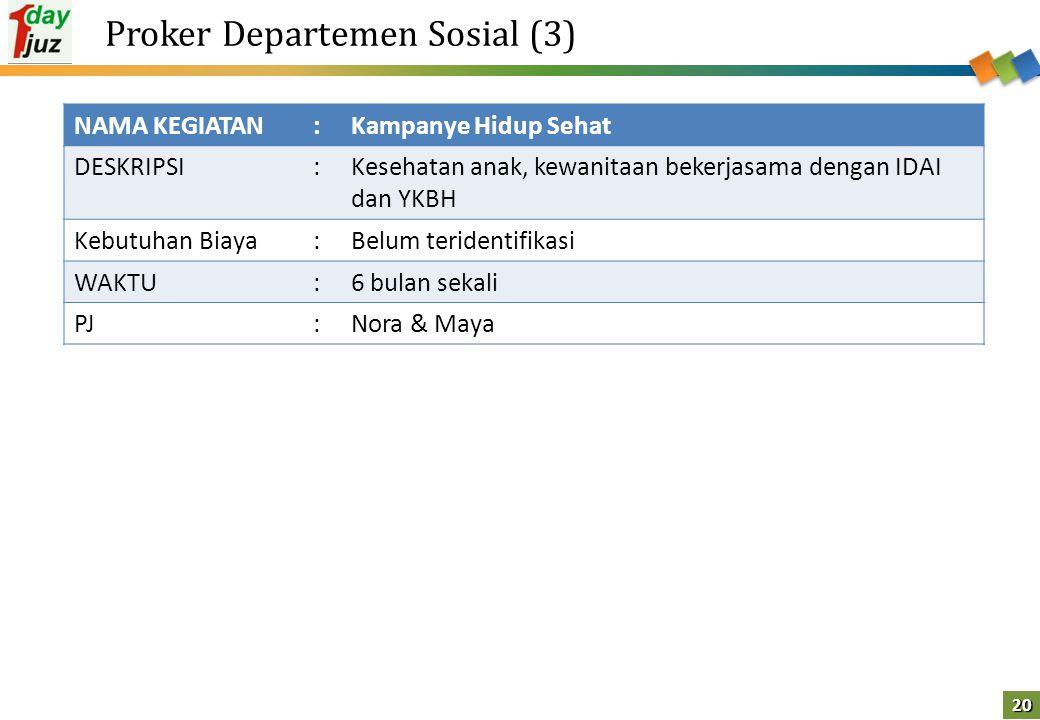 Proker Departemen Sosial (3)
