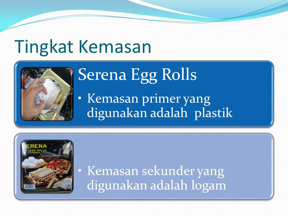 Tingkat Kemasan Serena Egg Rolls
